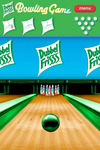 Screenshot DubbelFrisss Bowling Game